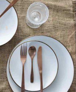 set piatti cala dorada bianco