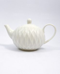 teiera in porcellana bianca per bomboniere