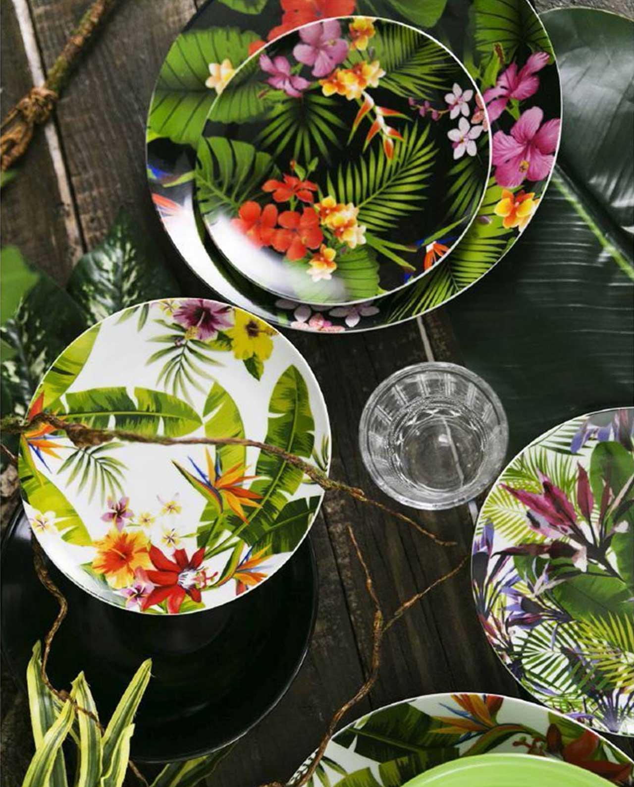 Servizio piatti jungle 18 pz villa d 39 este mobilia store - Piatti da portata particolari ...