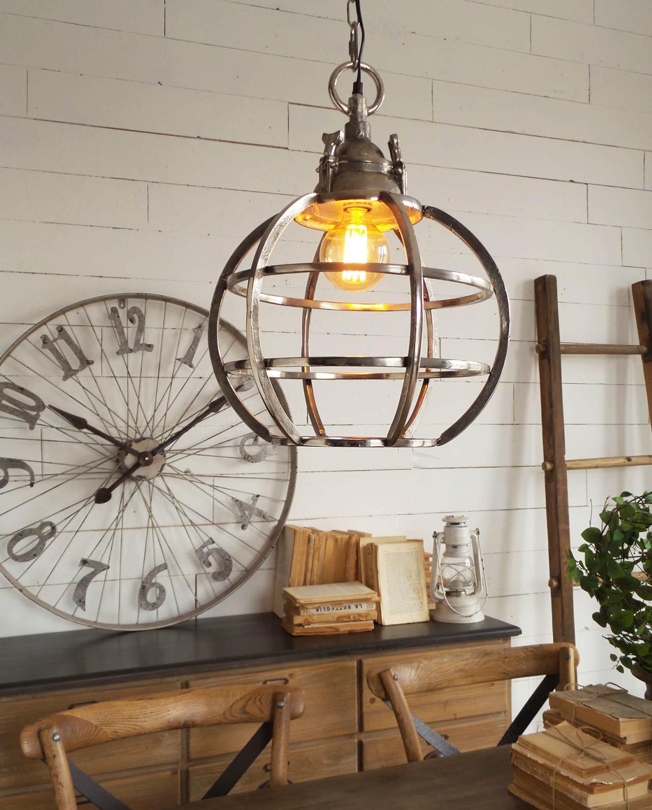 Lampadario a sfera alluminio anticato mobilia store home for Mobilia recensioni