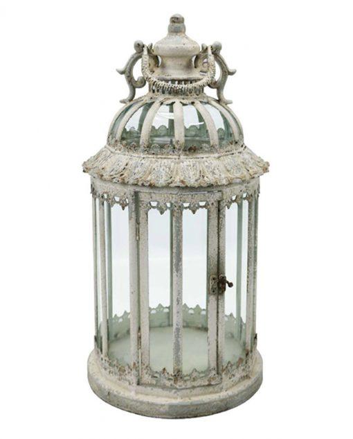 lanterna rotonda in metallo anticato brandani