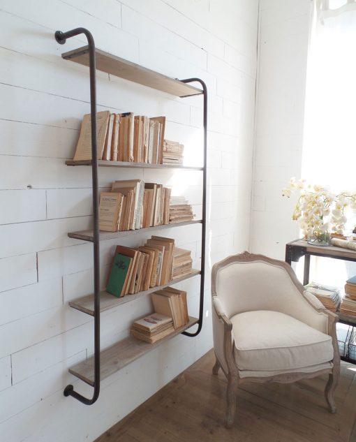 libreria ferro e legno grande