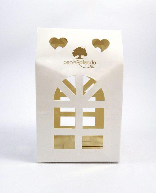 scatola casetta in cartoncino bianco paola rolando