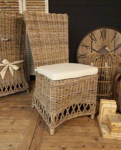 set 2 sedie in kubu naturale