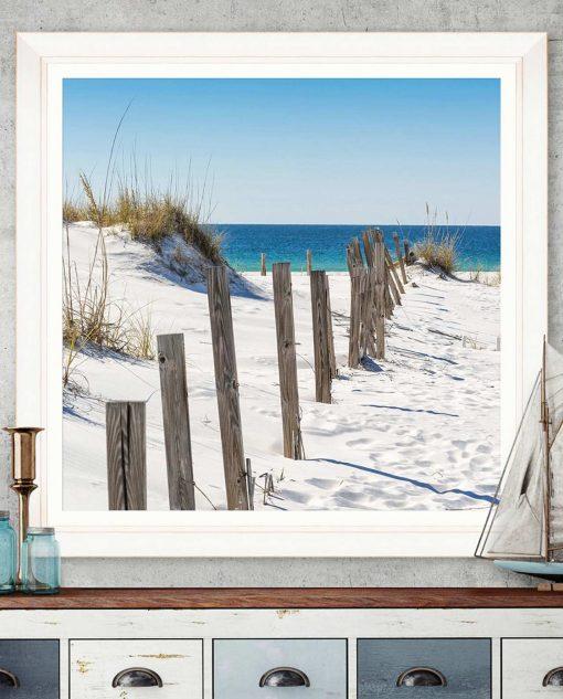stampa mare con cornice in legno bianco