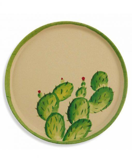 tropical vassoio tondo cactus