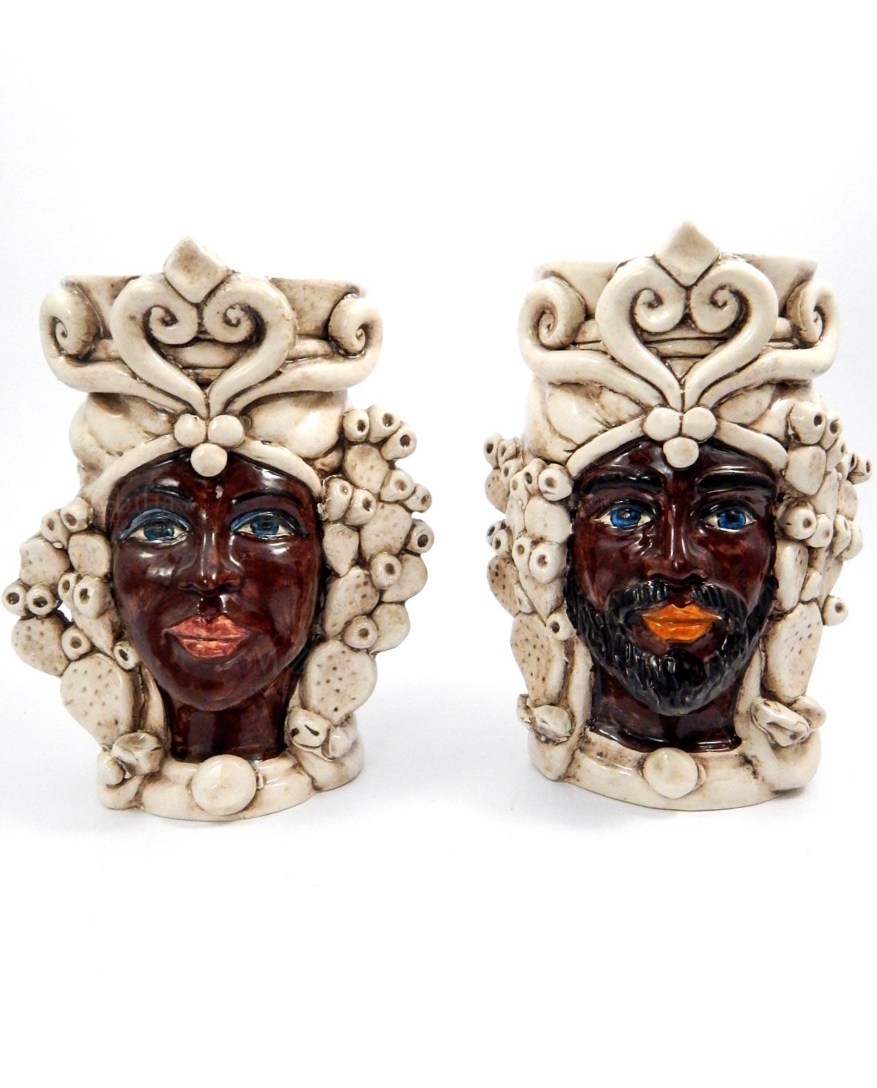Ceramiche di caltagirone teste di moro con fichi d 39 india for Il fico d india rural chic