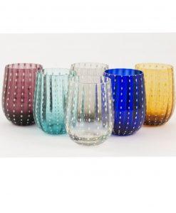 Set bicchieri acqua colorati