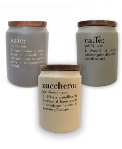 barattoli sale zucchero e caffè con tappo in sughero villa deste victionary