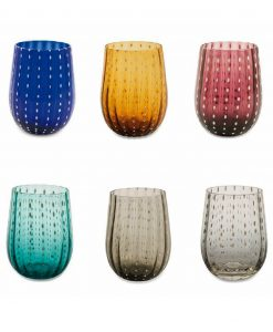 bicchieri acqua multicolor