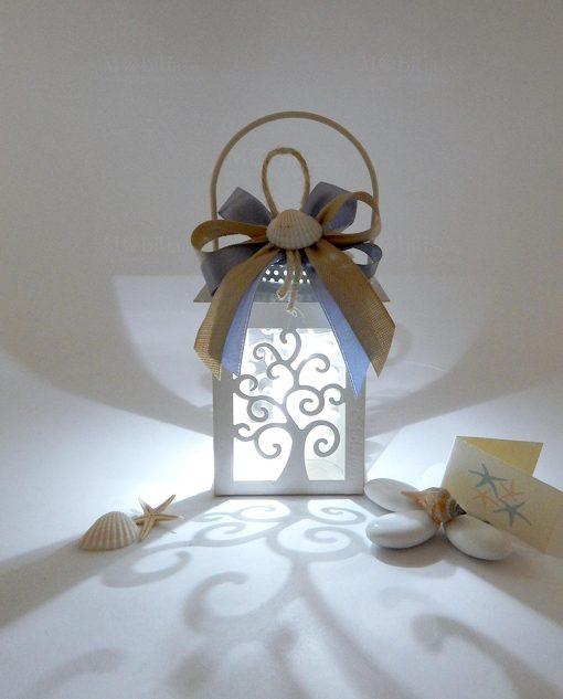 bomboniera lanterna albero della vita