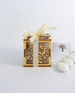bomboniera scatolina legno albero della vita