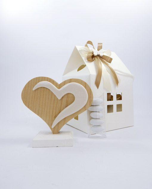 bomboniere cuore legno bicolore