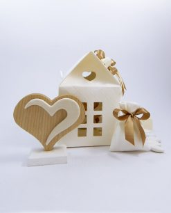 bomboniere icona cuore legno naturale