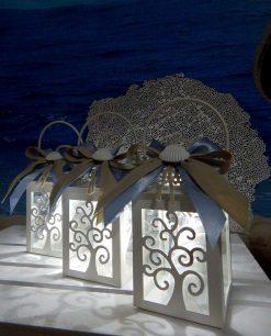 bomboniere lanterne albero della vita con luce led