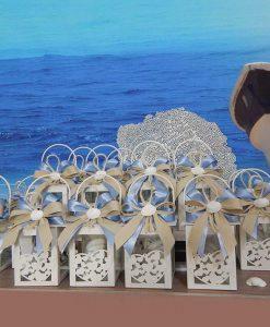 bomboniere lanterne cuori in metallo