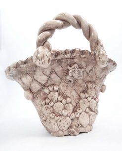 borsa coffa in ceramica antichizzata di caltagirone