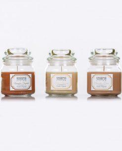 candele aromatiche con barattolo in vetro
