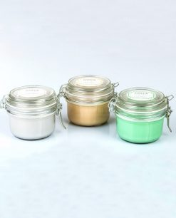 candele profumate con contenitore in vetro e tappo ermetico