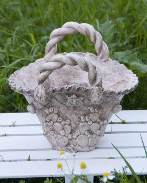 coffa in ceramica artigianale di caltagirone per bomboniere