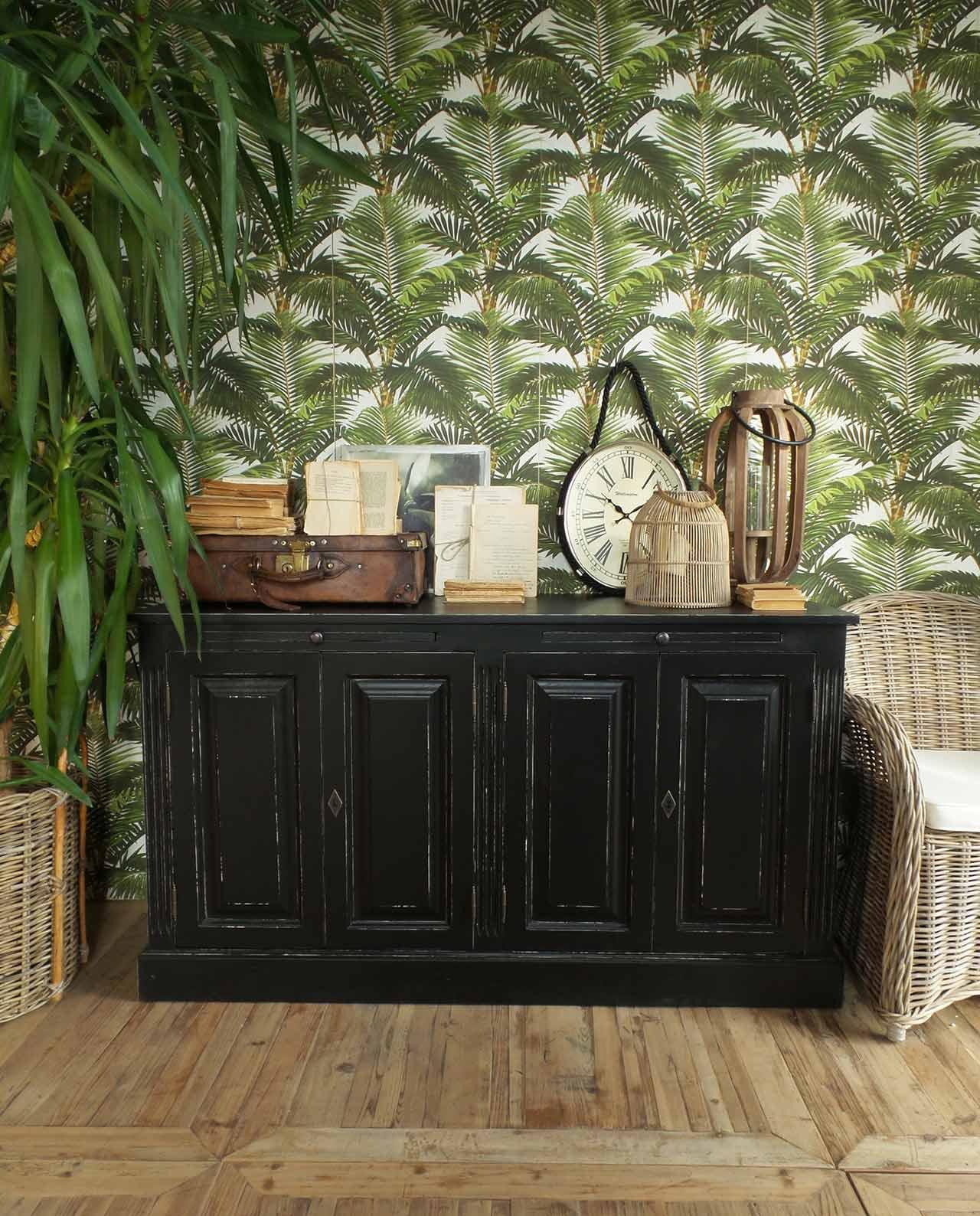 Credenza in legno nero anticato midtown park mobilia for Mobilia recensioni