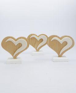 cuore legno bomboniera