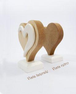icona cuore in legno