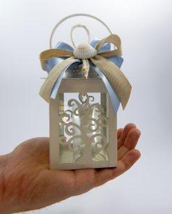 lanterna albero della vita metallo bianco