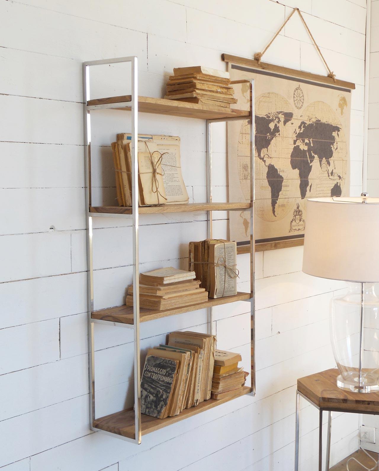 Etagere da parete in legno e acciaio mobilia store home for Case in legno e acciaio