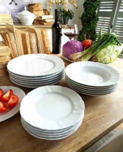 servizio piatti ceramica bianca 18 pezzi