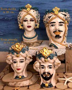 teste di moro dettagli oro ceramica di caltagirone
