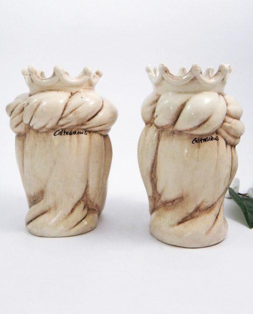teste di moro in ceramica di caltagirone re e regina