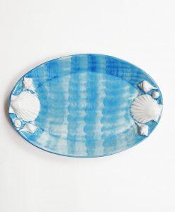vassoio azzurro con conchiglia 2