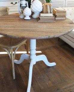 arredamento casa tavolo tondo in legno riciclato
