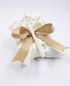 bomboniera chiave in porcellana bianca lucida ad bomboniere