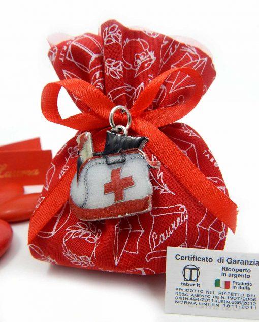 bomboniera con ciondolo borsa da medico tabor