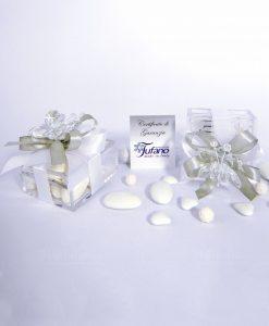 bomboniera farfalla in cristallo swarovski bianca tufano