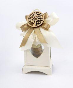 bomboniera lanterna metallo albero della vita