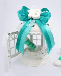 bomboniera lanterna metallo per compleanno