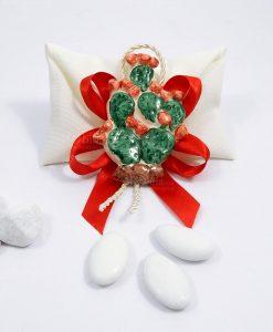 bomboniera magnete pianta di fico dindia ceramica di caltagirone
