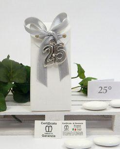 bomboniera online nozze dargento con ciondolo 25 tabor
