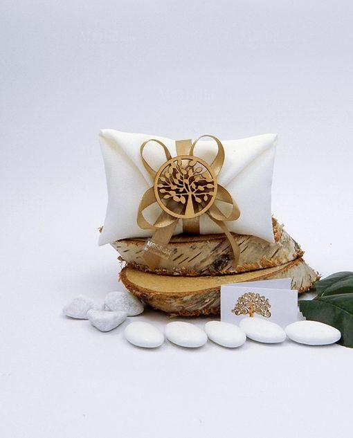 bomboniera tema albero della vita sacchetto confezionato