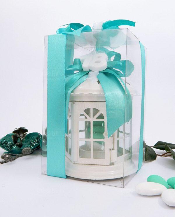 bomboniera lanterna pagoda con gessetto 18 confezionata con scatola