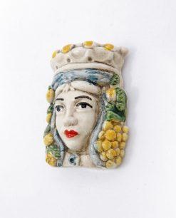 calamita regina testa di moro ceramica artigianale di caltagirone