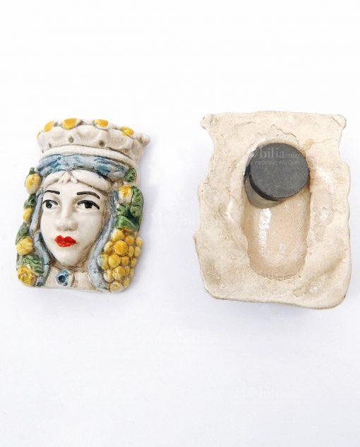 calamita testa di moro in ceramica artistica di caltagirone