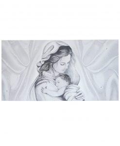 capezzale maternità su tela con swarosky e glitter
