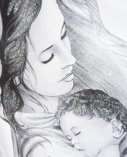 capezzale moderno maternità con swarovski e glitter