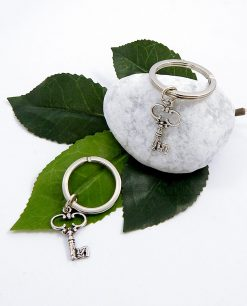 chiave portachiavi in argento per bomboniere
