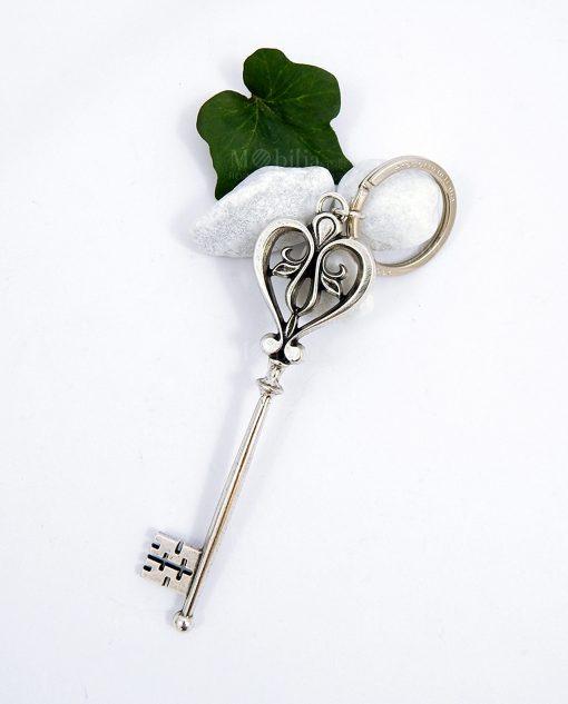 chiavi cuore in argento per bomboniere