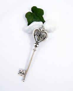ciondoli chiave cuore in argento